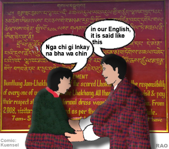 raonline bhutan dzongkha national language mixing