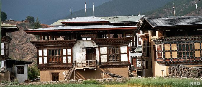Raonline Bhutan Architecture Bridges Dzongs Houses