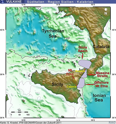 Sizilien Karte ätna.Raonline Edu Vulkanismus Tsunamigefahr Am ätna