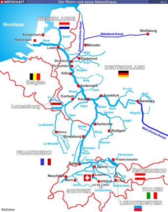Raonline Edu Wasserstrassen Der Rhein