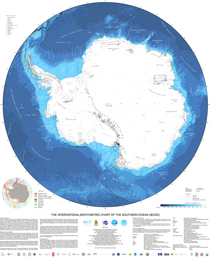 Karte Antarktis