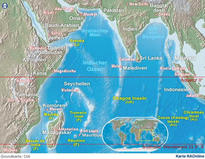 Raonline Edu Geografie Karten Asien Staaten Am Indischen Ozean