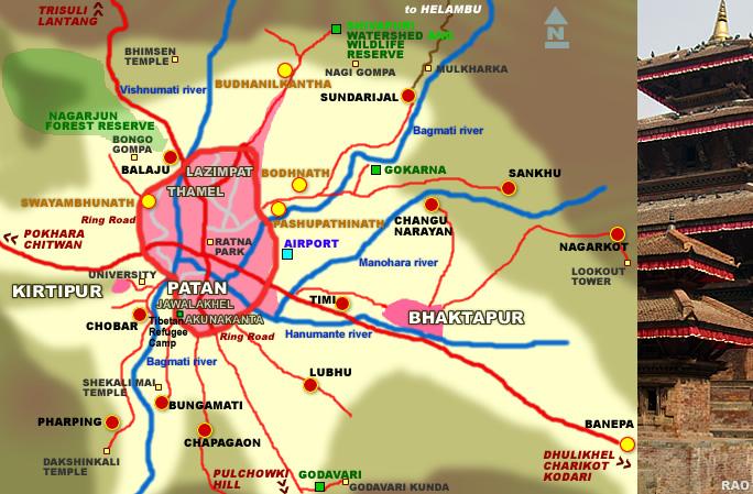 RAOnline Nepal Nepal Maps Kathmandu